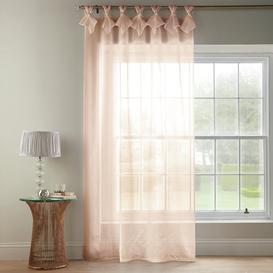 image-Shivani Tab Top Semi Sheer Curtain Rosdorf Park Colour: Blush, Size per Panel: 144 W x 182 D cm