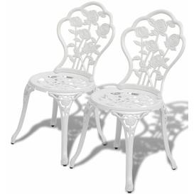 image-Aluminium Dining Chair Dakota Fields Colour: White
