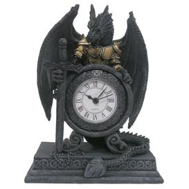 image-Gothic Armoured Dragon Mantle Clock