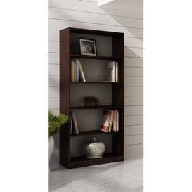 image-Bookcase Mercury Row Size: 182cm H x 60cm W x 32cm D, Colour: Dark brown
