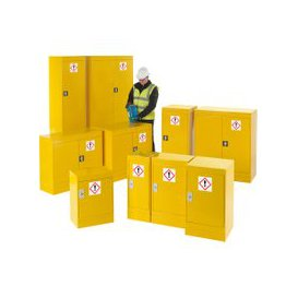 image-Hazardous Substance Storage Cupboards, Yellow, Free Standard Delivery
