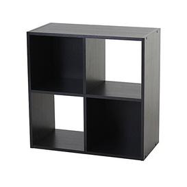 image-4 Cube Storage Display Unit Bookcase Symple Stuff Colour: Black Oak