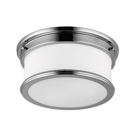 image-Payne 2 Light Polished Chrome Bathroom Flush Ceiling Light