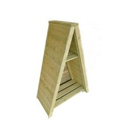 image-Shire Small Triangular Log Store Tongue & Groove Pressure Treated