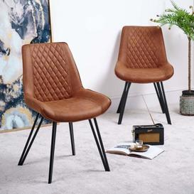 image-Finnick Dining Chair Tan Set of 2