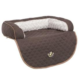 image-Wilton Dog Sofa Scruffs Size: 16cm H x 90cm W x 70cm D, Colour: Brown/Tan/Cream