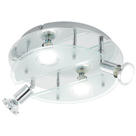 image-Eglo 93085 Cabo 1 Four Light Wall/Ceiling Spotlight In Chrome