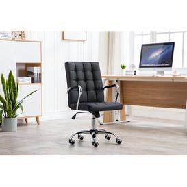 image-Pollard Ergonomic Desk Chair Blue Elephant Upholstery Colour: Black