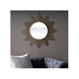 image-Serene Surat Gold Sunburst Mirror - 91cm x 91cm