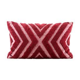 image-Pomegranate Chevron Tufted Cushion