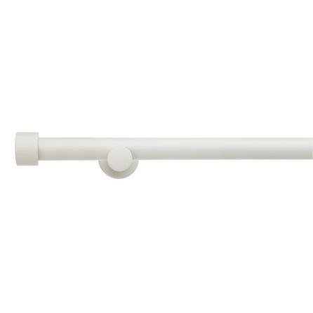 image-Trinity Fixed Wooden White Eyelet Curtain Pole Dia. 28mm White