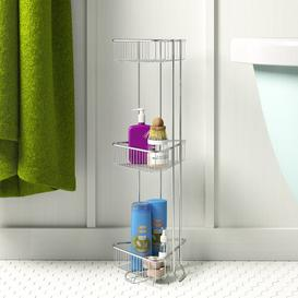 image-Chrome Corner Shower Caddy Wayfair BasicsΓäó