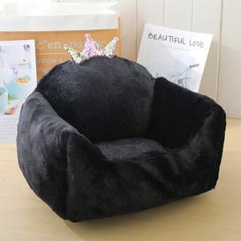 image-Shirlene Dog Sofa Archie & Oscar Size: 23cm H x 50cm W x 40cm D, Colour: Black