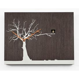 image-Myrtle Cuckoo Clock August Grove Finish: Dark Wood/White