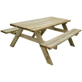 image-Forest Garden Retangular 8 Person Picnic Table