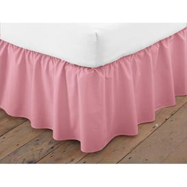 image-Margret 144 Thread Count Valance Zipcode Design Size: King (5'), Colour: Dusky Pink