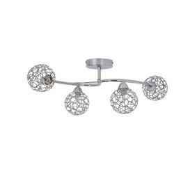 image-Pawlak 4-Light Semi Flush Mount Brayden Studio Fixture Finish: Polished Chrome