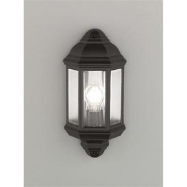 image-OUT6613 Matt Black Flush Wall Light With Clear Glass Panels