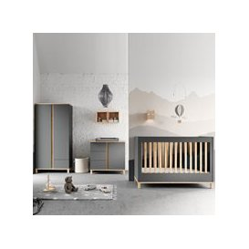 image-Vox Altitude Cot 3 Piece Nursery Furniture Set - Graphite