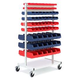 image-Complete storage bin trolley, 132 bins