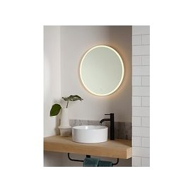 image-John Lewis & Partners Aura Wall Mounted Illuminated Bathroom Mirror, Round