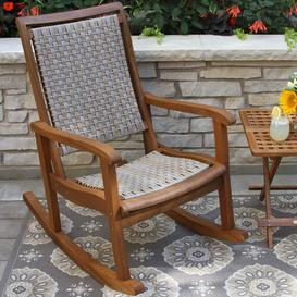 image-Willis Rocking Chair Sol 72 Outdoor Finish: Ash