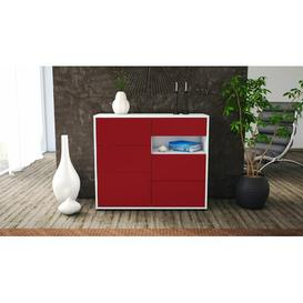 image-Rhine Sideboard Mercury Row Body and front colour: White/Red