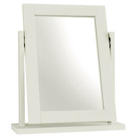 image-Cillian Rectangular Dressing Table Mirror August Grove Colour: Soft White