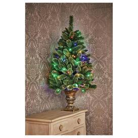 image-Premier Decorations 4ft Pre-Lit Pine Christmas Tree - Green
