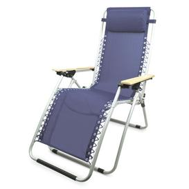 image-Charlette Folding Zero Gravity Chair with Cushion Sol 72 Outdoor Colour (Fabric): Navy