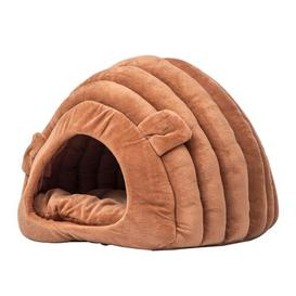 image-Bonilla Hooded Dog Bed Archie & Oscar Colour: Brown