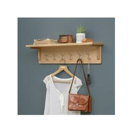 image-Appleby Oak 6 Hook Coat Rack