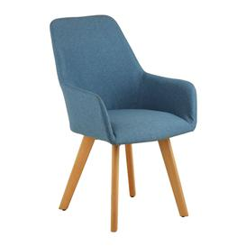 image-Porrima Fabric Upholstered Leisure Bedroom Chair In Blue