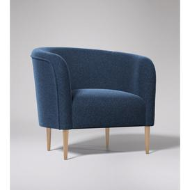 image-Swoon Cecily Armchair in Indigo Smart Wool With Light Feet