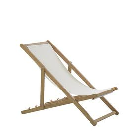 image-Wooden Folding Deck Chair Light Iolo Sol 72 Outdoor Colour (Frame): Light Brown