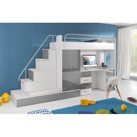 image-Murcia High Sleeper Bedroom Set Selsey Living Colour: Grey