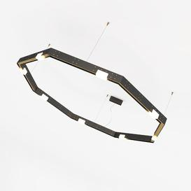 image-Nguyen 8-Light Geometric LED Chandelier Ebern Designs Fixture Finish: Stainless Steel