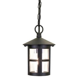 image-Elstead BL21B Hereford exterior black hanging porch light, IP20
