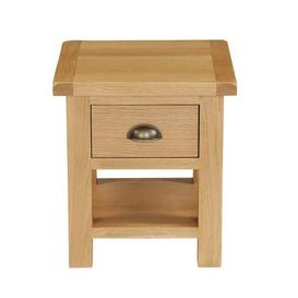 image-Sherbourne Oak Lamp Table Natural
