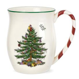 image-Christmas Tree Mug with Peppermint Handle Spode