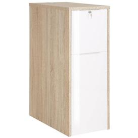image-Yelverton 1 Drawer Filing Cabinet Brayden Studio Colour: Sonoma oak (White paint, gloss finish)