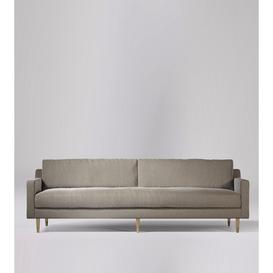image-Swoon Rieti Four-Seater Sofa in Llama Smart Wool With Light Feet