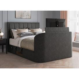 image-Osaka Ottoman TV Bed 4'6 Double GREY