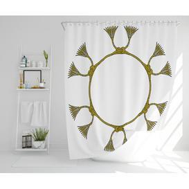 image-Styreman Polyester Shower Curtain Set Bloomsbury Market Size: 177cm H x 177cm W