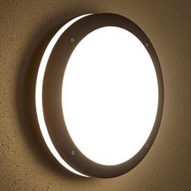 image-Caverna Round Bulkhead Security Garden Patio Porch LED Outdoor Bulkhead Light