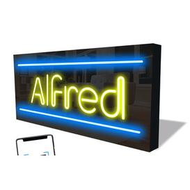 image-Smart LED Neon Sign Alfred By Happy Larry