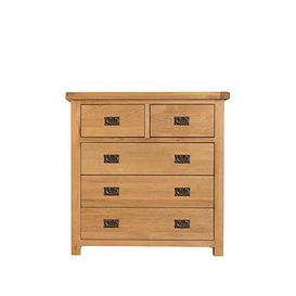 image-K-Interiors Alana Ready Assembled 2 + 3 Drawer Chest