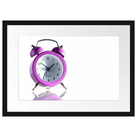 image-'Pink Alarm Clock' Framed Photographic Poster East Urban Home Size: 40cm H x 55cm W