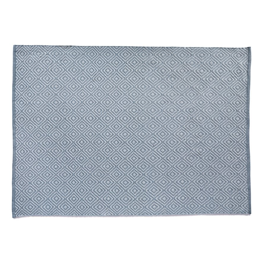 image-Diamond Reversible Rug 120 x 170cm, Denim