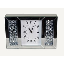 image-Howard Rectangle Floating Crystal Jewel Diamante Analog Mantle Clock Rosdorf Park